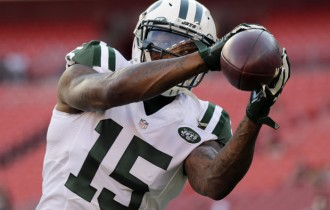 Jets' Brandon Marshall on injured knee: 'Don't rule me out until Sunday'