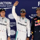 US Grand Prix: Lewis Hamilton holds off team-mate Nico Rosberg to take pole