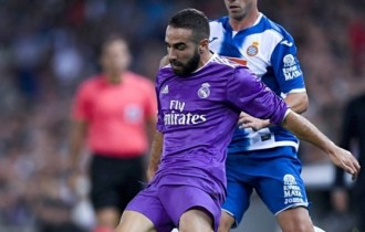 Madrid defender Carvajal ruled out for a month