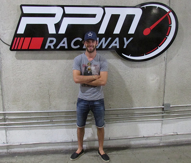 Formula E driver Jean-Eric Vergne stopped by RPM Raceway in Jersey City after competing in the New York City ePrix over the weekend.
